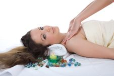 Free Attractive Woman Getting Spa Treatment Royalty Free Stock Images - 4867009