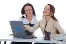 Free Business Woman Work With Laptop Royalty Free Stock Images - 4867039