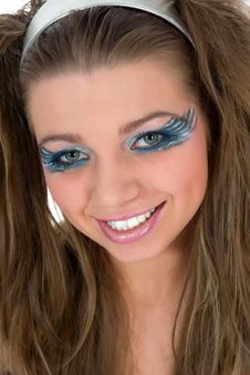 Free Girl With Face-art Butterfly Paint Royalty Free Stock Photos - 4867068