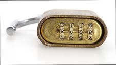 Free Padlock Numbers Royalty Free Stock Photography - 4868237