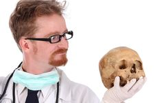 Free Doctor With Skull Stock Images - 4868644