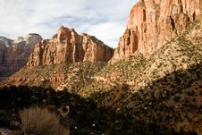 Free Zion National Park Royalty Free Stock Image - 4868986