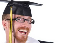 Free Happy Graduation A Young Man Stock Image - 4869171