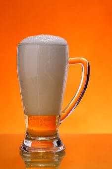Free Beer With Froth Royalty Free Stock Photos - 4869238