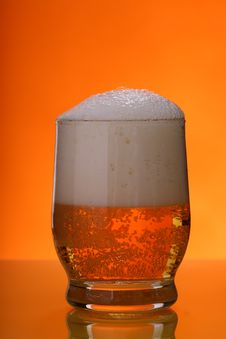 Free Beer With Froth Royalty Free Stock Photos - 4869248