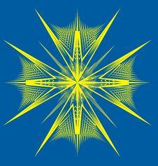 Snowflake Yellow Royalty Free Stock Image