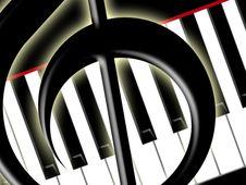Free Treble Clef And Keys Of The Piano Stock Photos - 4869413