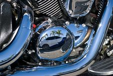Reflections In Chrome Stock Image