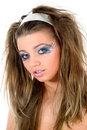 Free Girl With Face-art Butterfly Paint Royalty Free Stock Image - 4873606