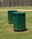 Free Green Trash Bins In A Park Royalty Free Stock Photos - 4878928