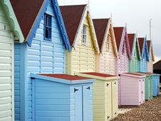 Free Beach Huts In A Row Stock Images - 4870504