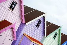Free Beach Huts In A Row Royalty Free Stock Image - 4870506