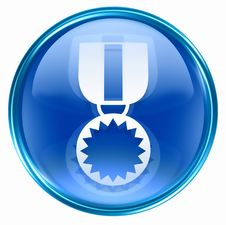 Free Medal Icon Blue Royalty Free Stock Photography - 4870617