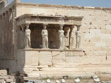 Free Greece, Athens, Caryatids In The Acropolis Stock Photography - 4871092