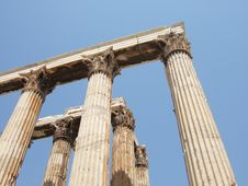 The Temple Of Zeus Olympic In Athens, Greece