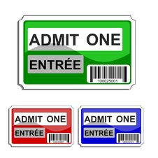Free Admit One Stock Image - 4871571