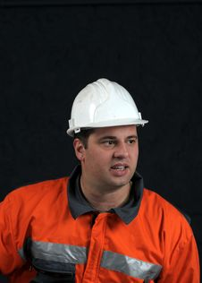 Free Portrait Of A Mine Worker Stock Image - 4872251
