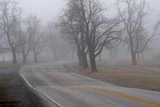 Free Foggy Road Royalty Free Stock Photography - 4872317