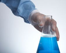 Erlenmeyer Flask Stock Photo