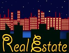 Free Neon Skyline Royalty Free Stock Photo - 4873165