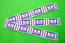 Admit One Ticket Stock Photos