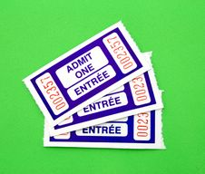 Free Admit One Ticket Royalty Free Stock Photography - 4873347