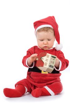 Free Baby With House Model Stock Photo - 4873600