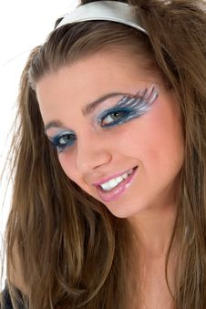 Free Girl With Face-art Butterfly Paint Stock Photo - 4873610