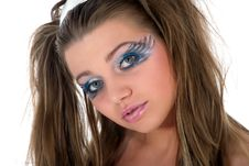 Free Girl With Face-art Butterfly Paint Stock Photography - 4873612