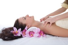 Free Attractive Woman Getting Spa Treatment Royalty Free Stock Image - 4873746