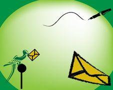 Free Bird With Envelope Stock Image - 4874121