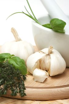 Free Garlic Royalty Free Stock Photography - 4874227