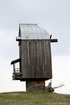 Traditional Ukrainian Windmill Royalty Free Stock Photo
