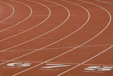 Running Track For Athletics Stock Images