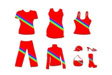 Free Fashion Clothing - Red Rainbow Version Royalty Free Stock Photos - 4874478