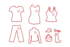 Free Fashion Clothing - White Heart Version Royalty Free Stock Photography - 4874487