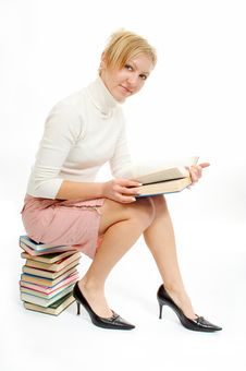 Free Student Woman With Book Stock Photography - 4874742