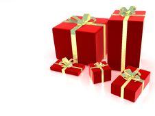 Free 3d Gift Box Illustration Stock Image - 4875911