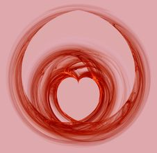Abstract Heart With Red Lines Stock Images