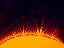 Free Fractal Sun Showing Rays Royalty Free Stock Photos - 4876728