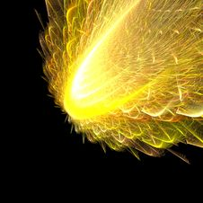 Free Abstract Fractal Yellow Explosion Stock Photography - 4876922