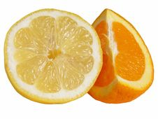 Free Juicy Orange And Lemon Slices Stock Photo - 4877570