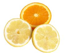 Free Juicy Orange And Lemon Slices Royalty Free Stock Photo - 4877575