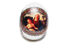 Free Egg With Angels And Eva Isolated On White Stock Photography - 4879732