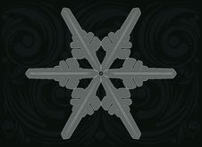 Free Ornament Snowflake Royalty Free Stock Photography - 48766387