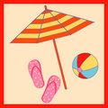 Free Beach Accessories Royalty Free Stock Photography - 4889637