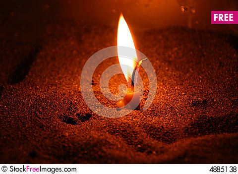 Free Candle Light Royalty Free Stock Photos - 4885138