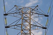 Free Power Transmission Pole Stock Photo - 4880050