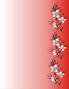Free Floral Frame On Red Background Stock Photos - 4880553