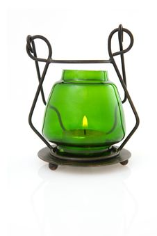 Free Green Candle Lamp Stock Photos - 4880813